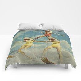 On Evil Beach - Sharks Comforters