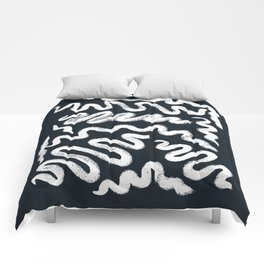 Chalky Squiggle print Comforters
