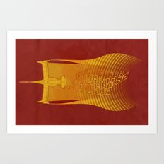 Space Horse (Spikes Horse)Bebop)Cowboy)Swordfish) Art Print