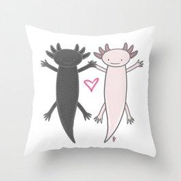 axolotl friends Throw Pillow