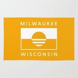 Milwaukee Wisconsin - Gold - People's Flag of Milwaukee Rug