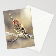 Rosy Little Finch Stationery Cards