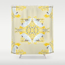 Natural Cockatoo Shower Curtain