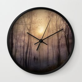 Eternal walk by Viviana Gonzalez Wall Clock