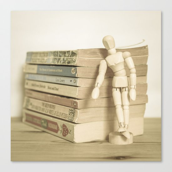Little man books Canvas Print