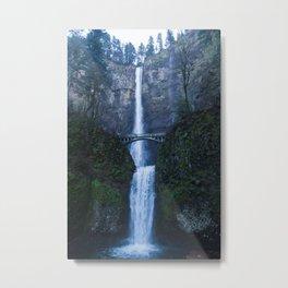 Winter at Multnomah Falls, Oregon Metal Print
