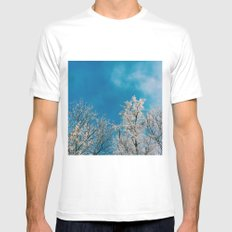 winter day White Mens Fitted Tee MEDIUM
