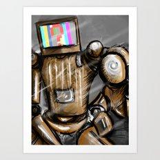 CONFUSED ROBO Art Print