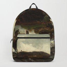 Hans Gude Painting -  Tordenveirsstudie 1873  | Reproduction | Norwegian Art Backpack