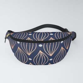 COPPER WAVE - NAVY BLUE Fanny Pack