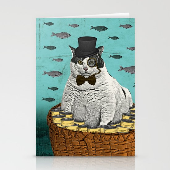 Fat Cat Print Stationery Cards