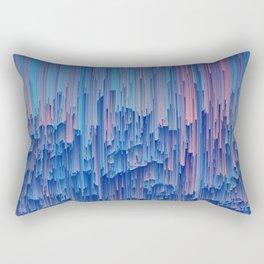 Glitchy Rain - Abstract Digital Piece Rectangular Pillow
