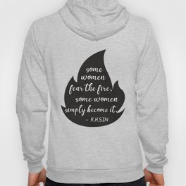 Motivational Fire Quote For Independent Women Lady Boss Hoody