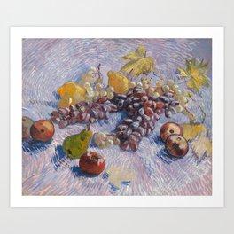 Grapes, Lemons, Pears, and Apples by Van Gogh Art Print