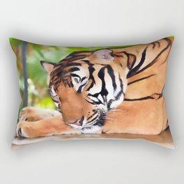 Sleeping Tiger Rectangular Pillow
