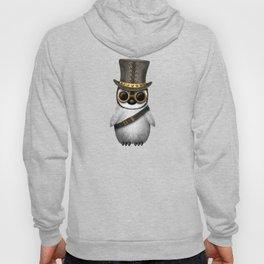 Steampunk Baby Penguin on Blue Hoody