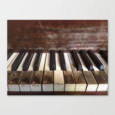 Dying Keys Canvas Print
