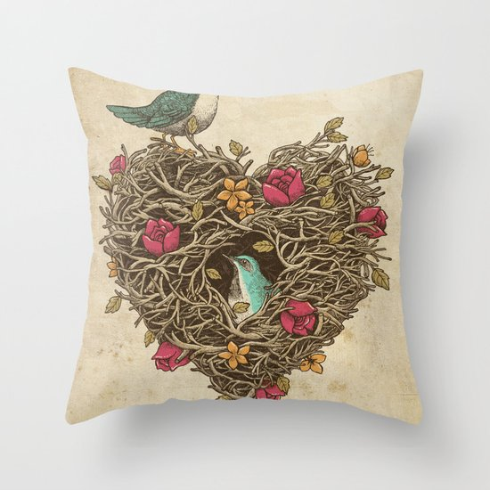 Home is where the heart is Throw Pillow