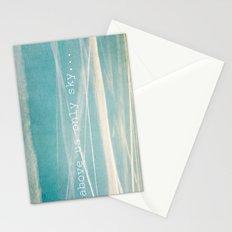 Above us only sky. Stationery Cards