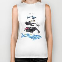 whales Biker Tanks featuring Whales by Amee Cherie Piek
