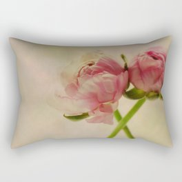Falling in Love with rose flowers Rectangular Pillow