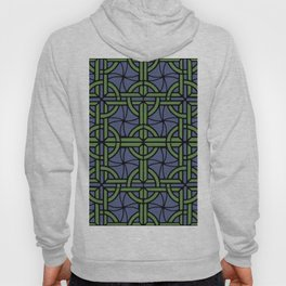 Stained Glass - Blue and Green Hoody