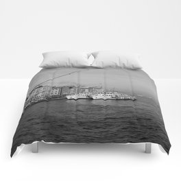 Bosphorus view from Galata Bridge Comforters