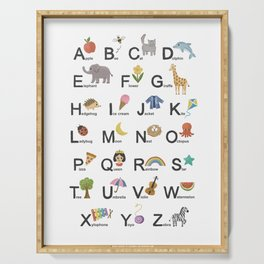 Alphabet for children Serving Tray
