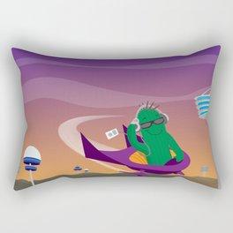Punk Cactus from the Future Rectangular Pillow