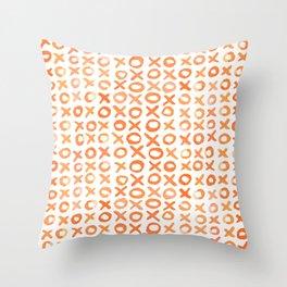Xoxo valentine's day - orange Throw Pillow
