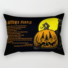 Still Life with Feline and Gourd Rectangular Pillow