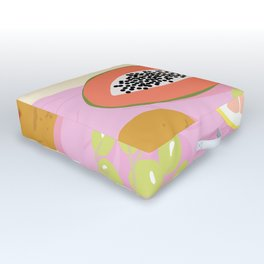 Papaya Picnic Outdoor Floor Cushion