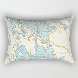 Vintage Muskoka Lakes Map Rectangular Pillow