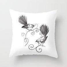 Fantails Throw Pillow