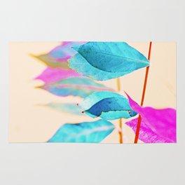 Digital Aquarell Leave Art Rug