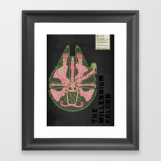 Spaceship Skeletal Survey: The Millennium Falcon Framed Art Print