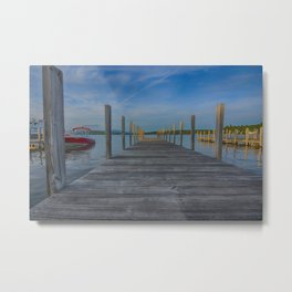 Winnipesaukee Dock Metal Print