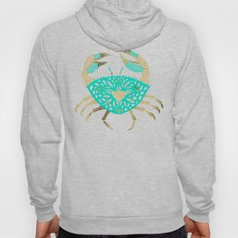 Crab – Turquoise & Gold Hoody