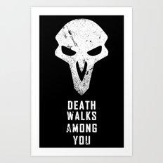 Death Walks Art Print