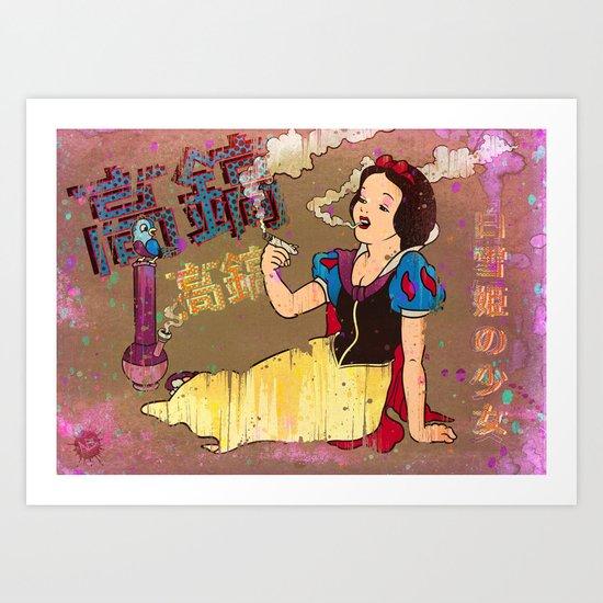 Snow White Girl Art Print