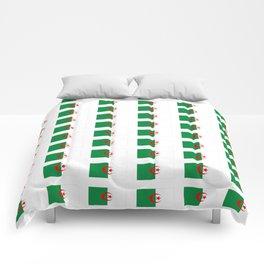 Flag of algeria 2 -algerian,algiers,camus,chaabi,oran,constantine,Annaba. Comforters