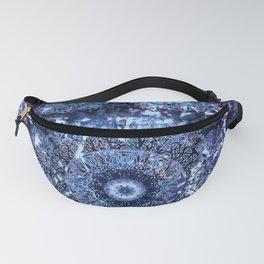 Iris Mandala Blue Fanny Pack