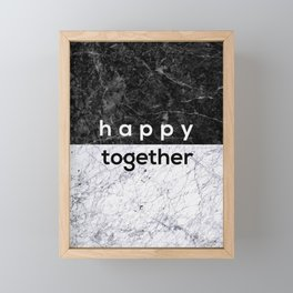 Happy Together Couples Quote Framed Mini Art Print