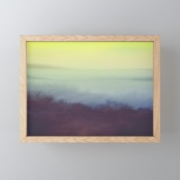 Coastal Landscape Abstract Framed Mini Art Print