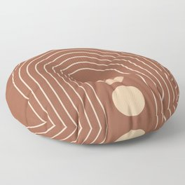 Mid Century Modern Geometric 10 (Moon phases) Floor Pillow