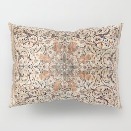 Silk Esfahan Persian Carpet Print Pillow Sham