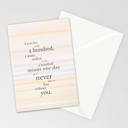 A hundred years Stationery Cards