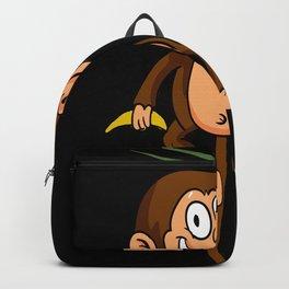 Banana Jungle Kids Monkey Motif Backpack