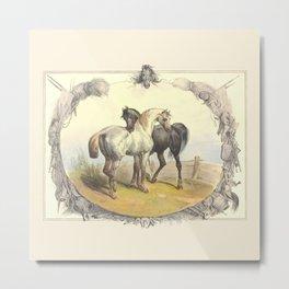 HORSE LOVE  Metal Print