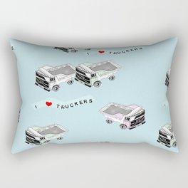 I Heart Truckers Rectangular Pillow
